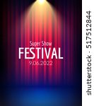 festival show poster with... | Shutterstock .eps vector #517512844