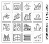 modern vector line icons with... | Shutterstock .eps vector #517512850