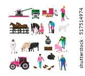 set of village characters... | Shutterstock .eps vector #517514974