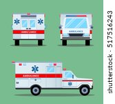 ambulance emergency icon. back  ... | Shutterstock .eps vector #517516243