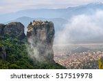 meteora monasteries. beautiful... | Shutterstock . vector #517519978