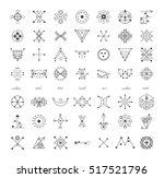 sacred geometry. set of minimal ...