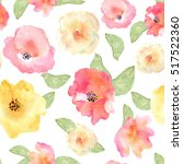floral seamless pattern with... | Shutterstock . vector #517522360