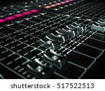 mixing console at a recording... | Shutterstock . vector #517522513