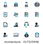 job icon set for web sites and... | Shutterstock .eps vector #517525948