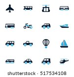 public transport icon set for... | Shutterstock .eps vector #517534108