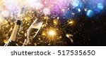 new year's fireworks with... | Shutterstock . vector #517535650