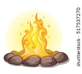 The Fire Surrounded With Stone...