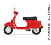 red classic scooter motorcycle   Shutterstock .eps vector #517539880