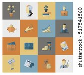 business and finance  flat icon ... | Shutterstock . vector #517541560