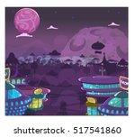 futuristic city  high... | Shutterstock . vector #517541860