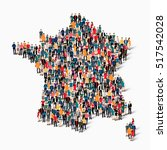 people map country france vector | Shutterstock .eps vector #517542028