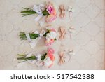 wedding bouquet with bow tie  | Shutterstock . vector #517542388