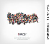 people map country turkey  | Shutterstock . vector #517543948