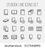 set of book icons in modern... | Shutterstock .eps vector #517544890
