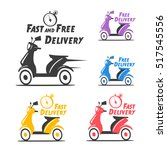 fast and free delivery. vector... | Shutterstock .eps vector #517545556