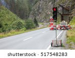 Temporary Traffic Light On A...