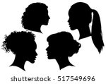 portrait of beautiful girl with ... | Shutterstock .eps vector #517549696