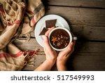 Girl Drinks Hot Chocolate Mug ...