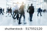 blurred business people at a... | Shutterstock . vector #517552120