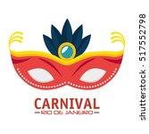carnival rio de janeiro mask...   Shutterstock .eps vector #517552798