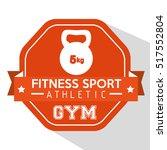 fitness sport athletic gym... | Shutterstock .eps vector #517552804