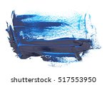 blue grunge brush strokes oil... | Shutterstock . vector #517553950