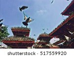 Pigeons In Blue Sky On Durbar...