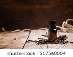 essential oil of cloves in a... | Shutterstock . vector #517560004