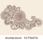 hand drawn abstract henna... | Shutterstock .eps vector #51756076