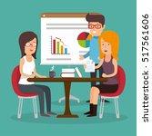 office teamwork board chart... | Shutterstock .eps vector #517561606