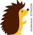 cute cartoon hedgehog | Shutterstock .eps vector #517562230