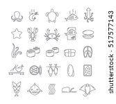 icons with seafood | Shutterstock .eps vector #517577143