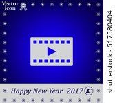 film strip with play   vector... | Shutterstock .eps vector #517580404