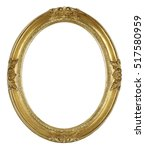 oval picture frame isolated on... | Shutterstock . vector #517580959