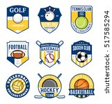 set of sport team logo. sport... | Shutterstock .eps vector #517585294