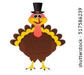 turkey pilgrimin hat on... | Shutterstock .eps vector #517586239