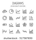 simple set of diagram and graph ... | Shutterstock .eps vector #517587850