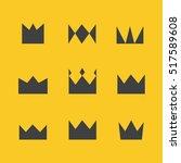 crown set  | Shutterstock .eps vector #517589608