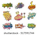comic speech bubbles for sound... | Shutterstock .eps vector #517591744