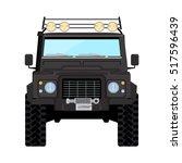 black offroad car truck 4x4 | Shutterstock .eps vector #517596439
