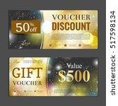 gift voucher template. can be... | Shutterstock .eps vector #517598134