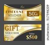 gift voucher template. can be... | Shutterstock .eps vector #517598209