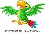 cartoon happy parrot isolated... | Shutterstock .eps vector #517598428