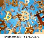 golden bitcoin signs raining....