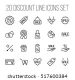 set of discount icons in modern ... | Shutterstock .eps vector #517600384