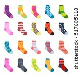 socks set icons.  collection ...   Shutterstock .eps vector #517605118