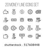 set of money icons in modern... | Shutterstock .eps vector #517608448