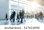 blurred people walking in a... | Shutterstock . vector #517613050