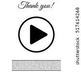 play button web icon   Shutterstock .eps vector #517614268